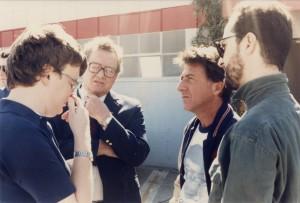 Kim Peek meets Dustin Hoffman who plays him in the film Rainman